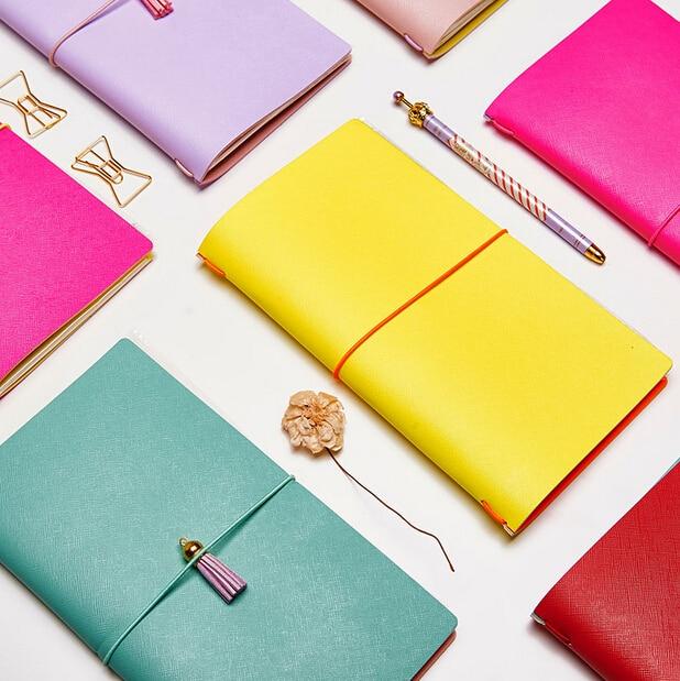 Dokibook 2018 doces cor do viajante Notebook Kawaii Agenda Planejador Organizador Planejador Diário artigos de papelaria escritório e material escolar