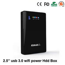 (Disque dur inclus) ordinateur portable hdd wifi externe disque dur 2 tb HDD 2.5 sata usb3.0 sans fil wifi routeur 4000 mah powerbank