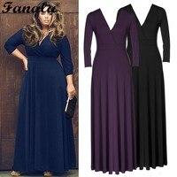 אביב מפלגת נשים ארוכה אופנתי פורמליות נשף כדור קוקטייל ליידי v-צוואר dress dress dress אופנה חדשה שחור כחול m23