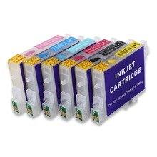 10 комплектов T0481-T0486 заправляемые чернильные картриджи для EPSON фото R200 R220 R300 R300M R320 R340 RX500 RX600 RX620 RX640 принтер