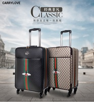 CARRYLOVE fashion classic luggage series 16/20/24/26 inch PU Handbag and Rolling Luggage Spinner brand Travel Suitcase