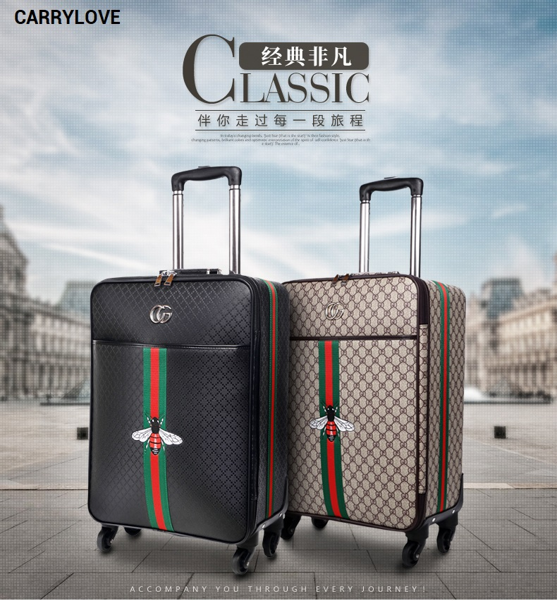 CARRYLOVE fashion classic luggage series 16/20/24/26 inch PU Handbag and Rolling Luggage Spinner brand Travel Suitcase vintage suitcase 20 26 pu leather travel suitcase scratch resistant rolling luggage bags suitcase with tsa lock