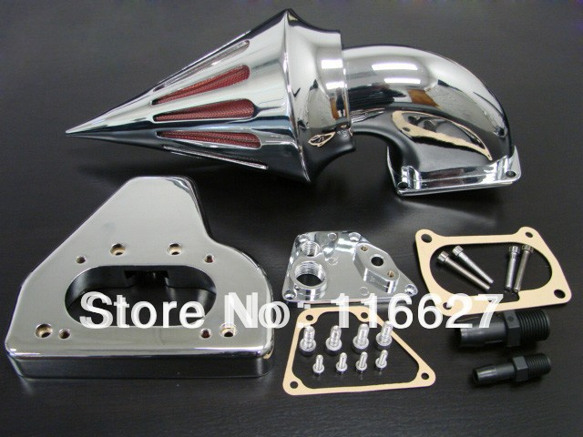 Freeshipping Chrome SPIKE AIR CLEANER INTAKE FILTER For HONDA VTX 1800 2002-2009  NEW chrome air cleaner intake filter case for honda shadow aero vt750 vt750c 2004 2009 08