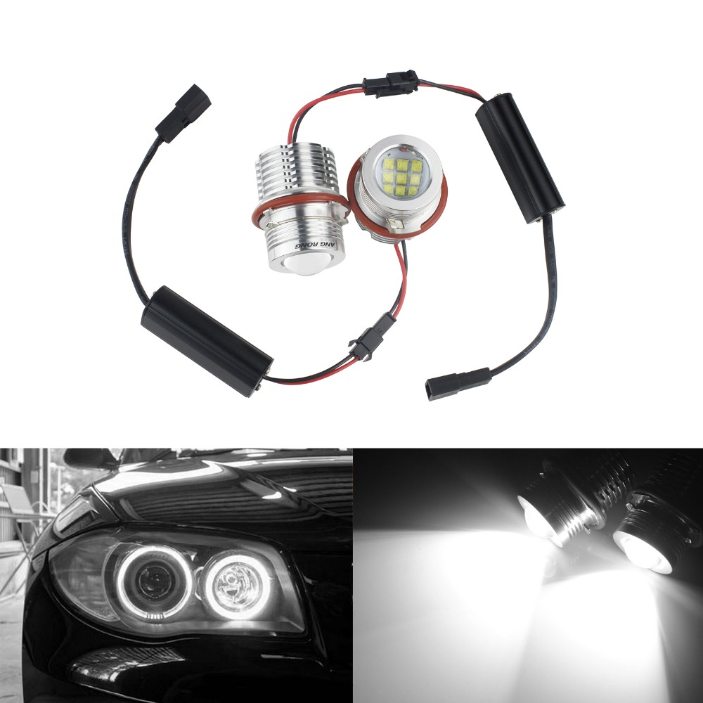 ANGRONG 90W LED Angel Eyes Halo Light Marker Bulb For BMW E60 E87 M5 X5 E53 E63 E65 5 series E39 face lifted / LCI (CA291)