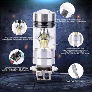 Image 5 - Vehemo farol de led para névoa, 2 peças 100w h3 12/24v 10000lm branco farol de carro 6000k