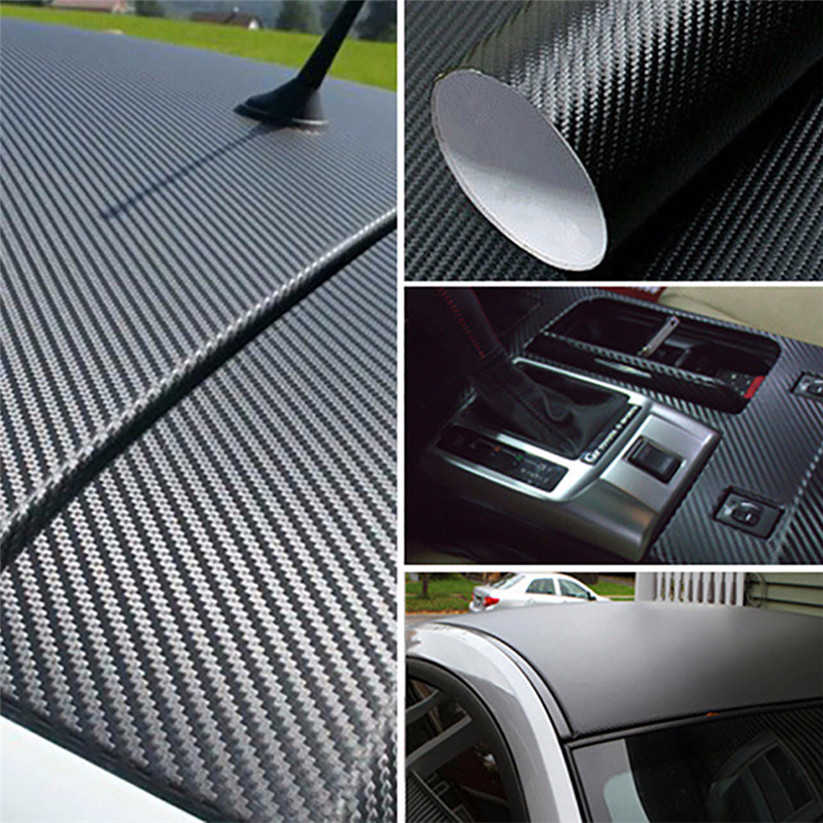 Автомобильная стильная пленка для кузова черная модная 3d-винил с рисунком под углеродное волокно наклейка для мотоцикла автомобильная стручка легко очищается водой L0517
