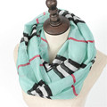 New Winter Fashion Stripe Women Chevron Infinity Shawl Autumn Charm Zig Zag Print Geometric Ring Scarves Lovely Plaid Loop Scarf