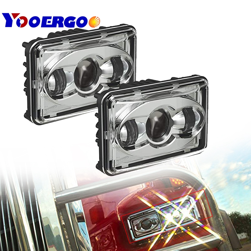 40w LED sealed beam 12v 24v 4x6 led headlight with H4 Plug used for truck kneworth front 6x4 headlight external lights