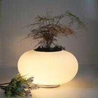 Современные Настольные лампы модные Спальня ночники LED чтение Стол Lights белый Стекло настольная лампа современный креативного освещения ук