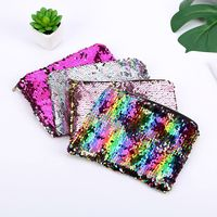 Women Mermaid Sequins Cosmetic Bag Large Capacity Clutch Handbag Evening Clutch Envelope Bag BlingBling Makeup Bag Pouch Cosmetic Bags