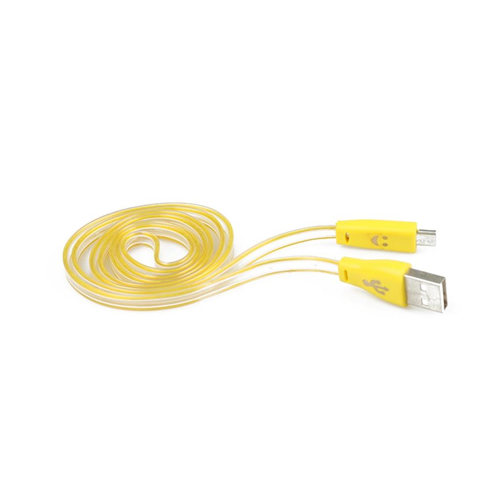 1 Pc Led Licht 8 Pin Micro Usb Daten Sync Ladekabel Ladegerät Kabel Für Samsung Android-handy Tablet Lächeln Gesicht Design