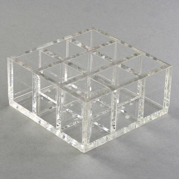 9 grilles petit transparent acrylique boîte de séparation bijoux perles stockage présentoir