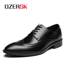 OZERSK Formal Oxford Shoes For Mens Dress Shoes Man Wedding Dress Office Shoes Men Zapatillas Hombre Deportiva Mocassin Homme