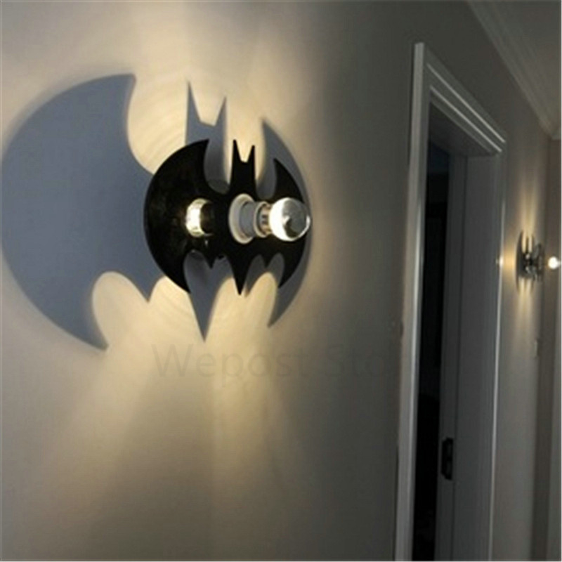 28cm fashion modern art high grade 110 240v wall lamp dc batman 28cm fashion modern art high grade 110 240v wall lamp dc batman black bat lights for home bedroom living room decoration in led indoor wall lamps from aloadofball Choice Image
