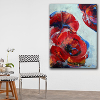 Large Painting Abstract Art Flowers 5 Canvas Painting For Living Room Home Decor Oil Painting On