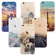 Mais novo de moda Para o iphone 6 6 S caso Ultra Fino Suave Paisagem de Montanha Silicone à prova d' água Para iphone 6 mais Caso de Telefone cobrir(China (Mainland))