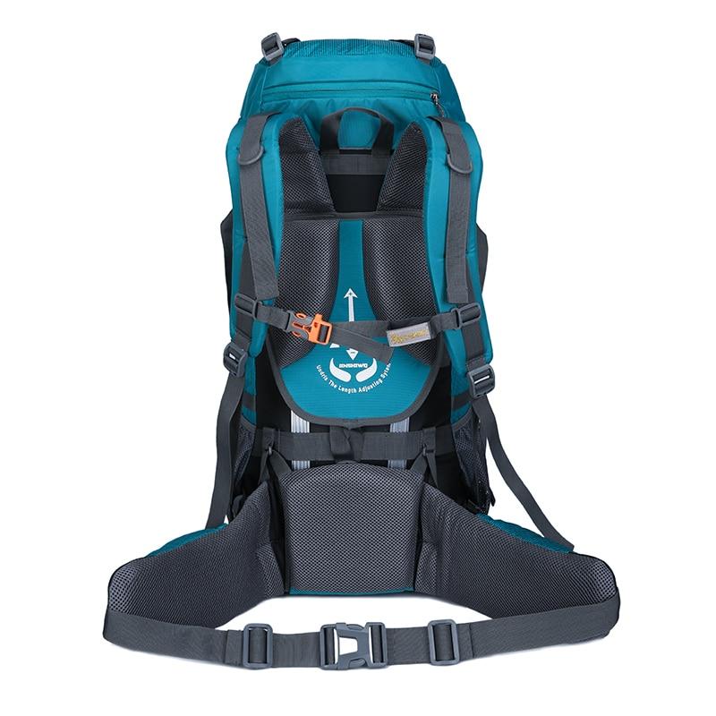 60L escalada impermeable senderismo mochila al aire libre de las mujeres y los hombres bolso Camping montañismo mochila bicicleta deporte bolsas de viaje - 3