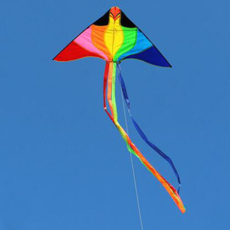 Free Shipping High Quality Phoenix Rainbow Kite Flying Ripstop Nylon With Handle Line Kites For Adults Toys Kites Eagle Dragon