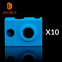 DFORCE 10PCS high quality cartridge heater bock silicone socks V6 for PT100 heated block v6 hotend nozzle