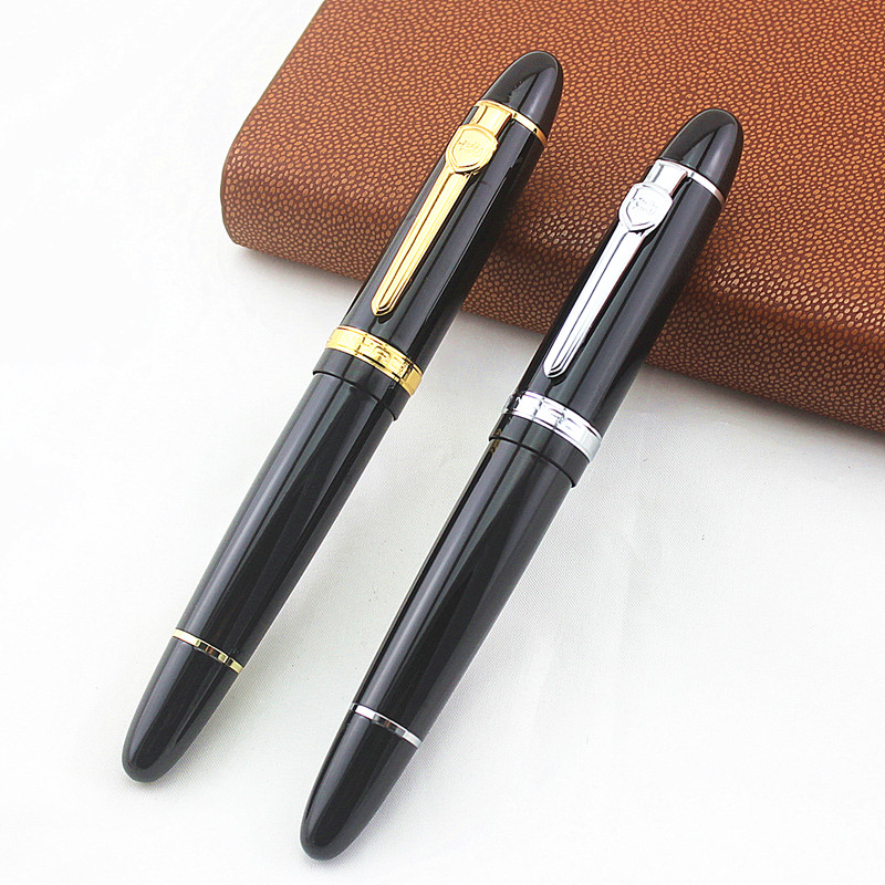 New Jinhao 159 Black And Golden 0.7 Mm Nib Fountain Pen Ink Converter And Box Ink Select Gifts Writing Pen