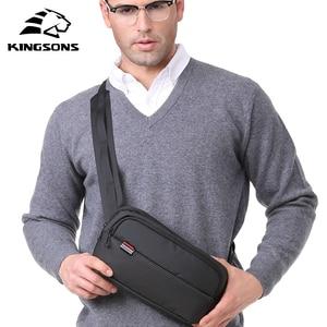 Image 5 - Kingsons Sac de ceinture en cuir pour hommes, porte argent, Sac de sport, poitrine, Sac de plage, Banane, décontracté
