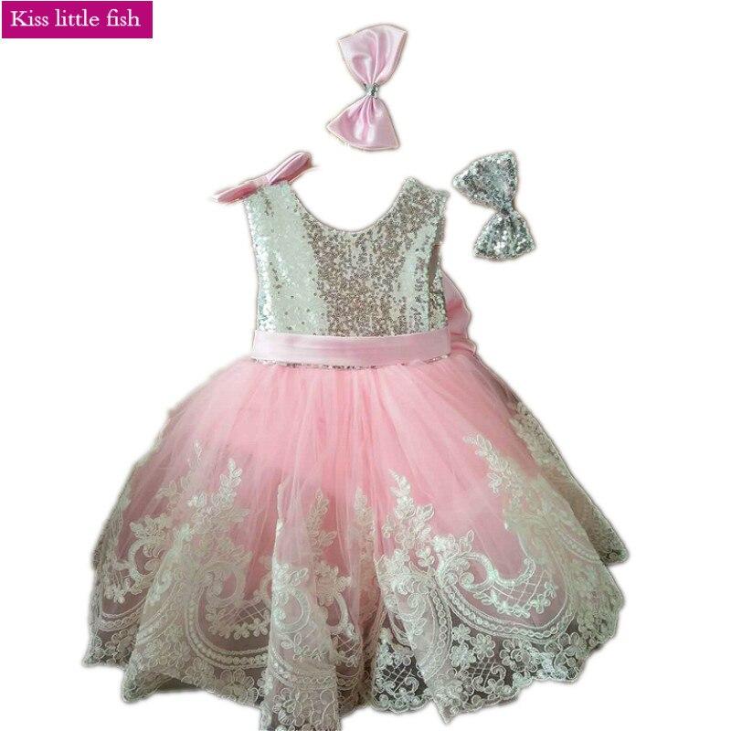 Free shipping High quality Latest original design Flower girl dresses Kids beauty pageant dresses Girls birthday
