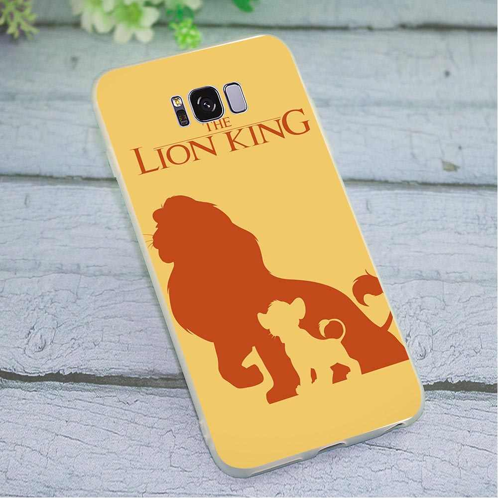 Case for Samsung Galaxy A6 Plus 2018 The Lion King Cat Phone Cover for A7 A8 A9 A10 A20 A30 A40 A50 A70 J3 J5 J6 J7 A5 2017