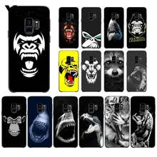 Yinuoda Tier affe lion tiger leopard shark hund Telefon Fall für Samsung Galaxy S9 plus S7 rand S6 rand plus s10 S8 plus fall(China)