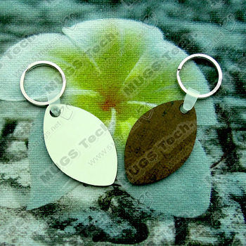 100Pcs/Lot Wholesale Diy Fashion Sublimation Key Chain Wooden Key Rings  White Blank MDF  For Heat Press