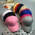 11 cores Black White Khaki Baratos Mulheres Homens Boné de Beisebol Planície hip hop aba curva em branco snapback chapéu esportes de verão tampão da pesca