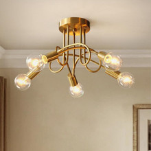 3/5 Heads Nordic Restroom Living Room Bedroom Copper LED Ceiling Lamp Simple Cafe Restaurant Corridor Decor LED Ceiling Lights nordic led ceiling light loft decor corridor porch balcony cafe creative ceiling lamp background wall dining roon ceiling lights