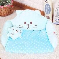 Hot Pet Sofas Cute Pink With Pillow Dog Cat Sleeping Mats Beds Winter Warm Animal Houses