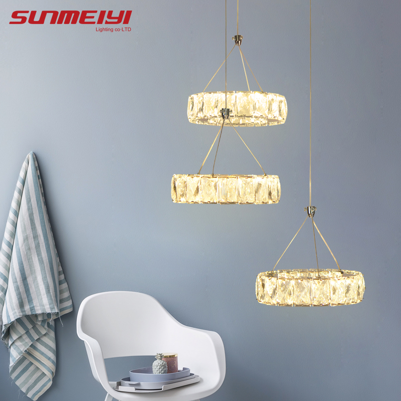 Modern LED Crystal Chandelier Light Lamp For Home Decorative Cristal Lustre Chandeliers Lighting Pendant Hanging Ceiling