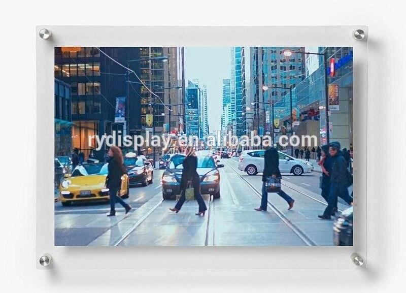 Cadre photo mural A3 16x12 Double panneau flottant cadre photo support de panneau acrylique décoratif