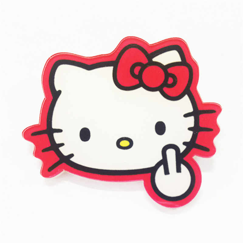 130f85686 1PCS Cartoon Cute Hello Kitty Cat Icon Acrylic Brooch Badges Decoration Pin  Buttons Backpack Clothes Accessories