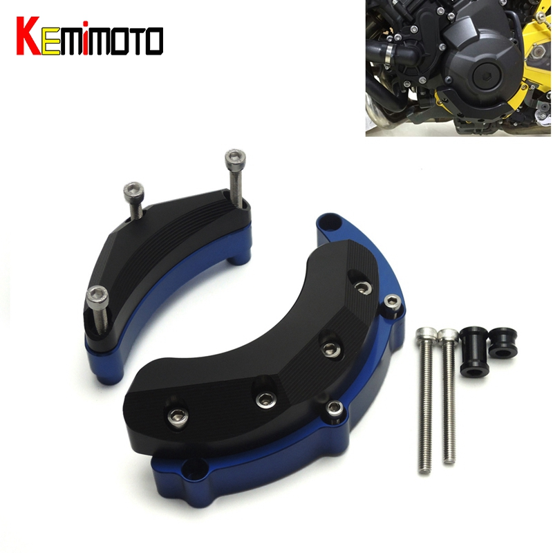 KEMiMOTO Accessories For YAMAHA FZ-09 FZ09 Engine Guard Case Slider Cover Protector Tracer FJ09 XSR 900 2014 2015 2016 2017 sep motorcycle accessories carbon fiber engine sprocket chain case cover clutch cover for yamaha mt09 fz09 tracer fj09 2014 2017