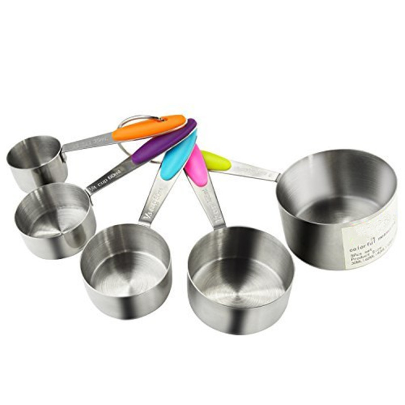 dry measuring cups 5 pcs solid sturdy stainless steel stackable measuring 12378