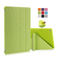 Leather Cover For Ipad 6 Stand Flip Case Ultra Thin Transparent Clear Luxury Cases For Apple