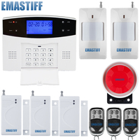 99 Wireless 4 Wired LCD Display 433mhz Home Security Burglar Voice Alarm System GSM SMS Remote