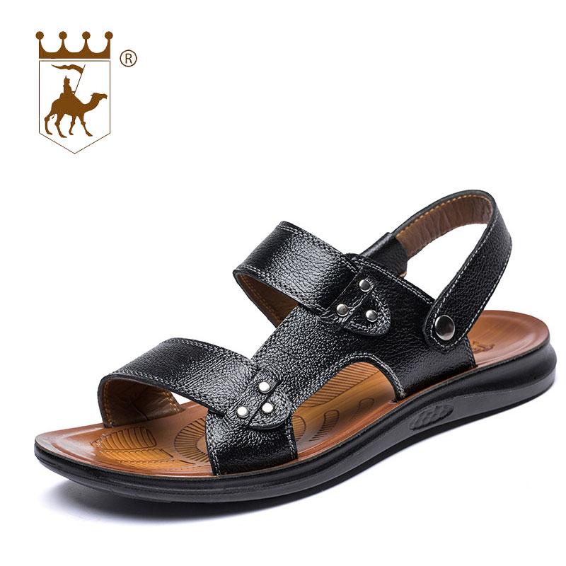 BACKCAMEL 2018 New Arrival Genuine Leather Sandals Men Summer Shoes Classics Men Beach Shoes Cool Comfortable Casual Shoes Men
