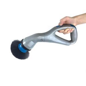4pcs 무선 허리케인 근육 스크러버 브러시 헤드와 전기 청소 브러시 욕실 표면 욕조 샤워 타일 브러시 3