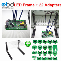 Best Match LED BDM Frame + 22 BDM Adapters Metal LED BDM Frame For Ktag KESS Galletto FGTECH ECU Programming Tool Full Adapter