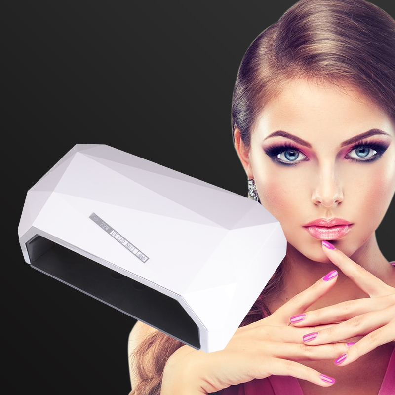 WENYI 2 Hands 72W Lamp For Nails 10S/30S/60S/99S Timer UV LED Gel Light Lamp Nail Art Manicure Machine Dryer For Nails цена