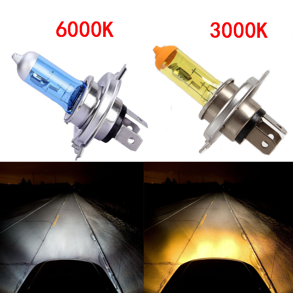 2 PCS H1 H3 H4 H7 H8 880 881 9005 9006 H11 Halogen Bulb Light Fog Light Lamp DC 12V 100W Yellow / Spuer White Bulbs For all car
