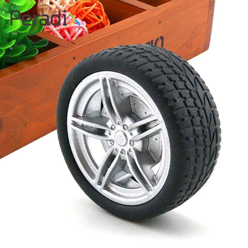 4Pcs Simulation Tire 3.0mm Axle Hole Toy Model Accessories Black Road Car Truck*
