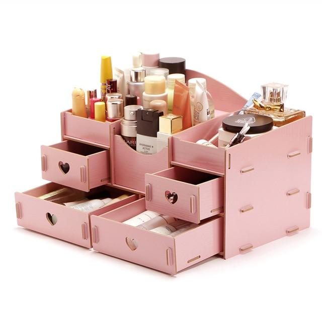 buy fashion wooden makeup organizer diy. Black Bedroom Furniture Sets. Home Design Ideas
