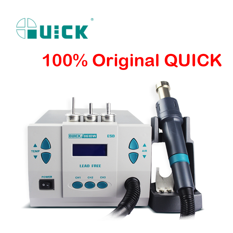 QUICK 861DW 1000W Original Quick Soldering Station Rework Station Hot gun Soldering Air Soldering Station