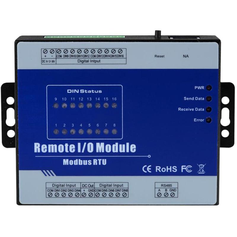Modbus RTU Remote IO Module High Precision Data Acquisition Module 16DIN High Speed Pulse Counter M410
