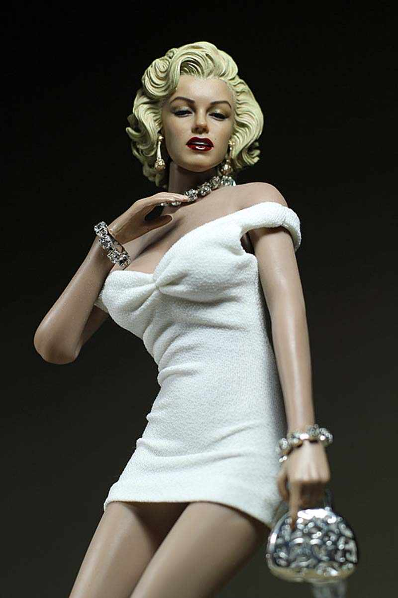 b022c6a9d3 1/6 Scale Marilyn Monroe White Mini Skirt Sexy Clothes Model Fit For 1:6  Female Soldier Head Sculpt Wheat Glue Body Toy Hobbies