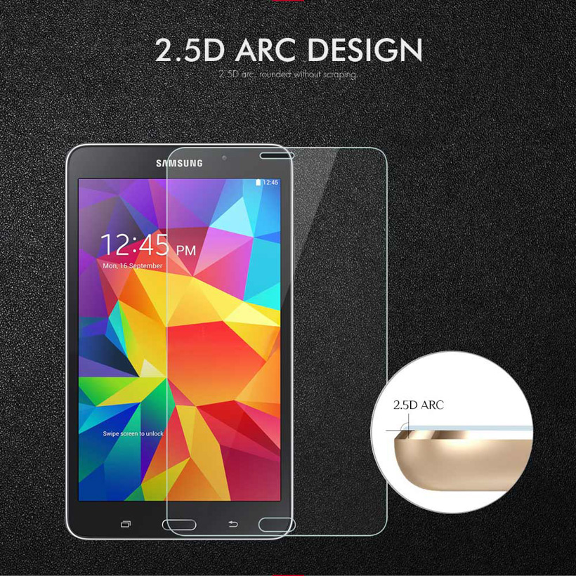 Full Covers 9H Tempered Glass For Samsung Galaxy Tab 4 7 0 LTE T230 T235 Tab4 7 0 inch Screen Protector Protective Film in Tablet Screen Protectors from Computer Office